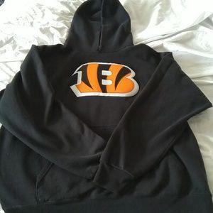 Cincinnati Bengals hoody, unisex sz MEDIUM